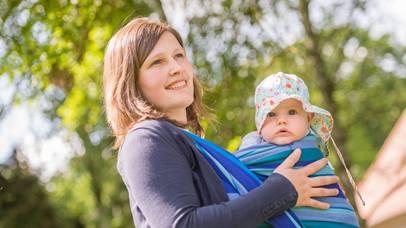 Alnatura Familientag auf dem Oberfeld - Mutter mit Kind
