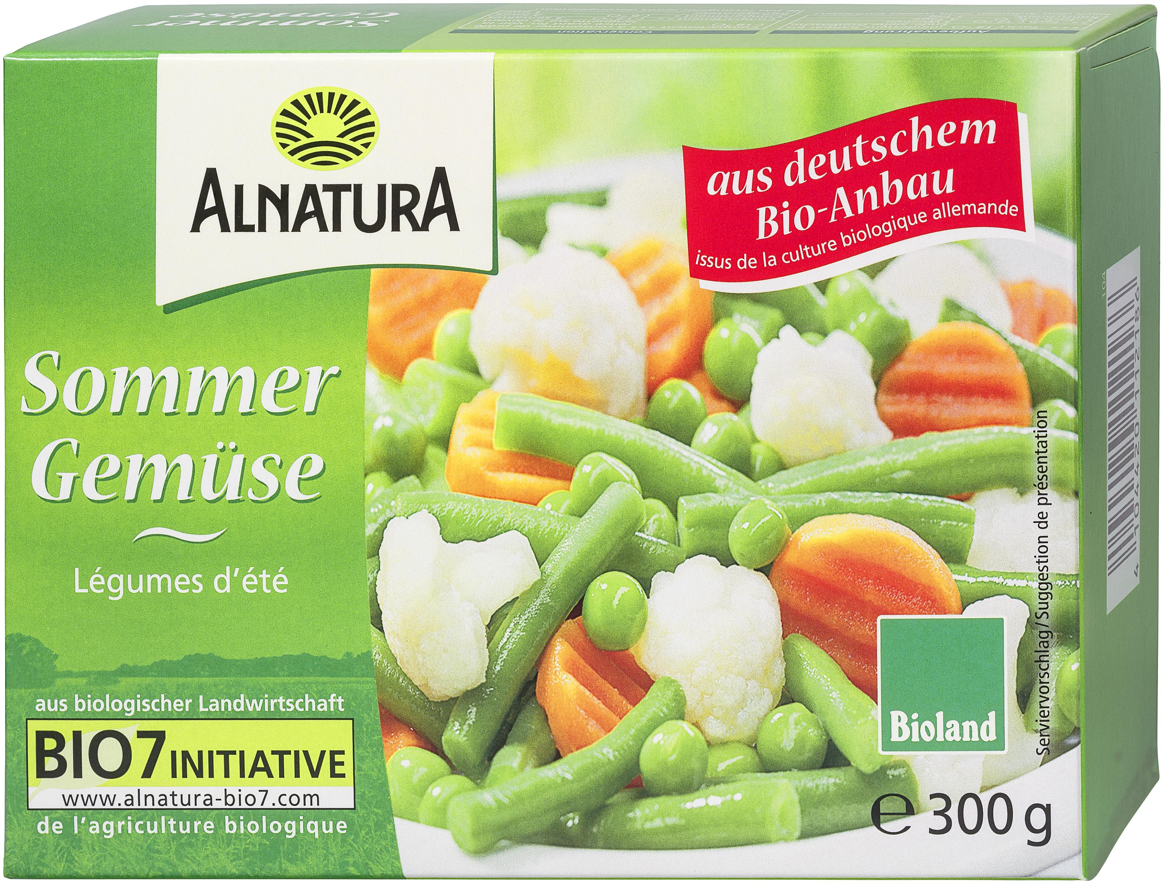 Sommergemüse TK 8 g in Bio Qualität von Alnatura