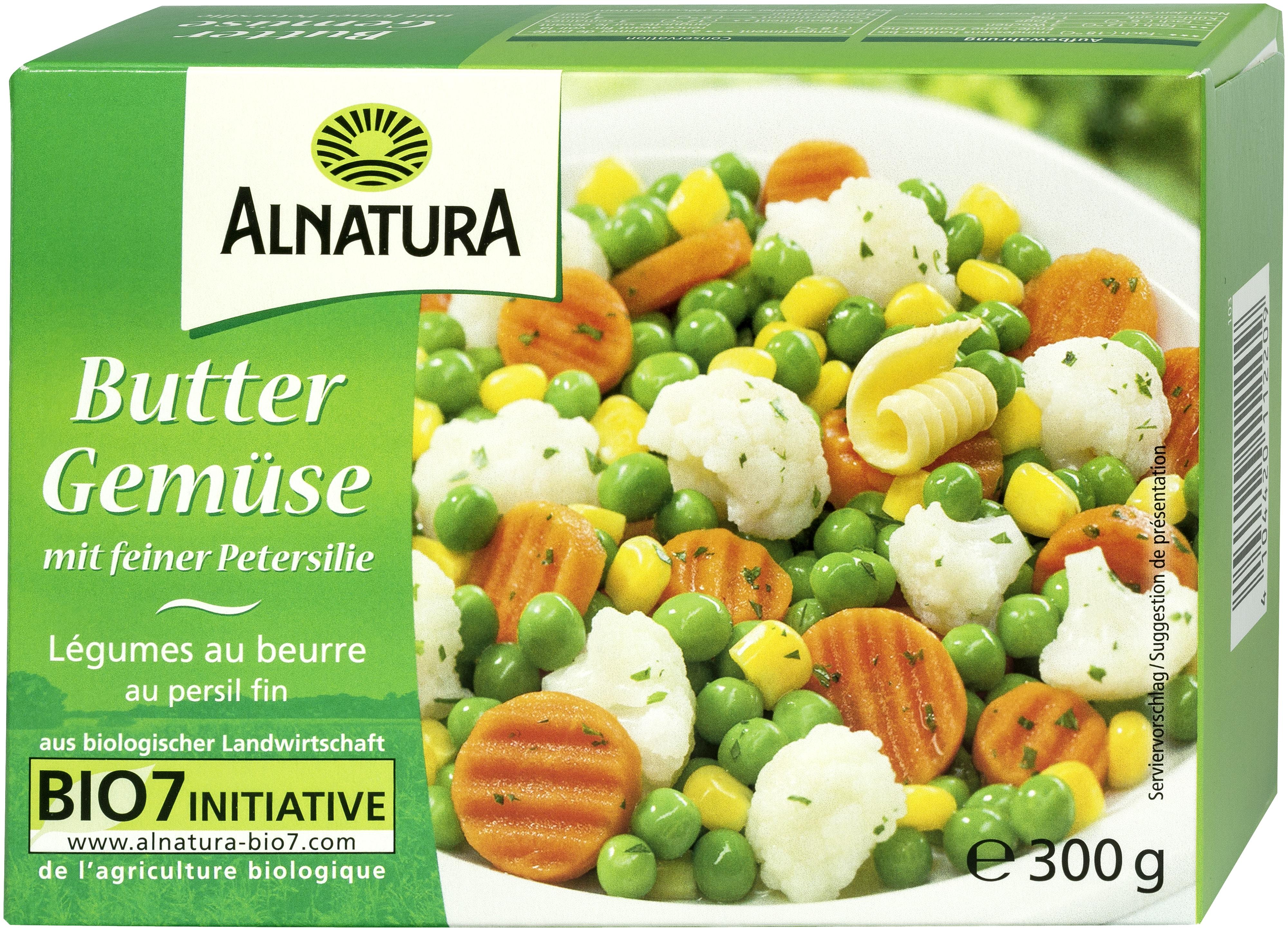 Buttergemüse TK 8 g in Bio Qualität von Alnatura