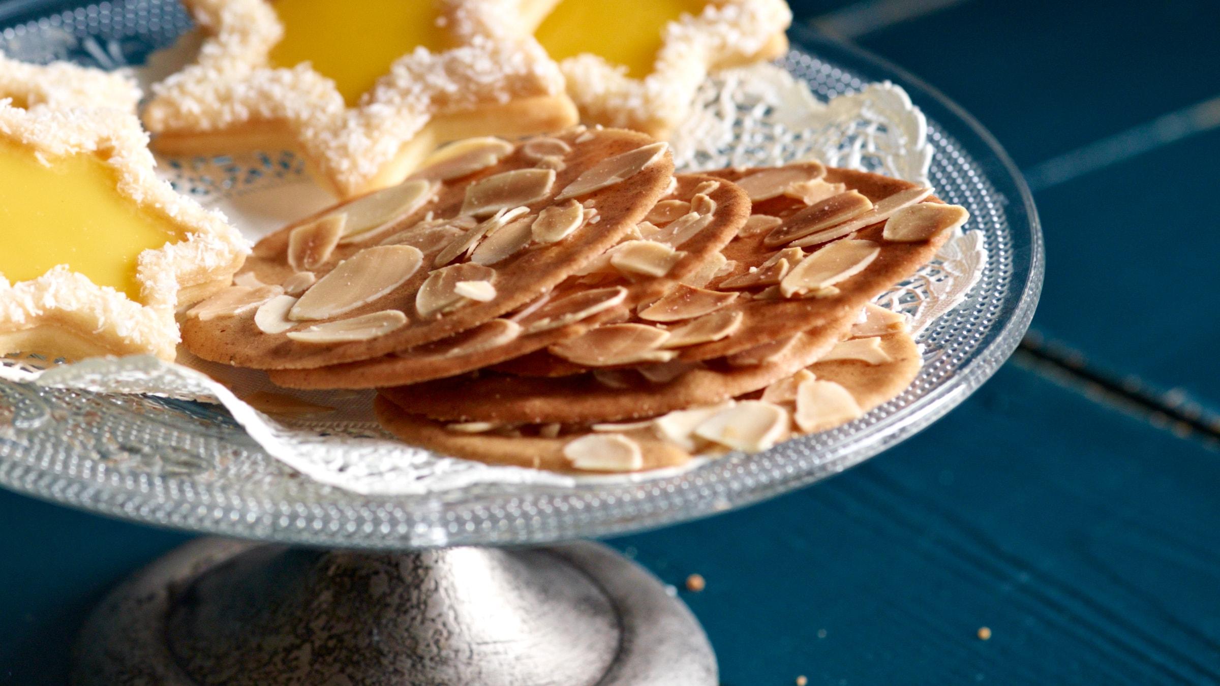 knusprige lebkuchenblätter mit mandeln rezept selbst
